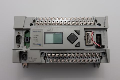 Allen Bradley MicroLogix 1400 PLC terminals shown