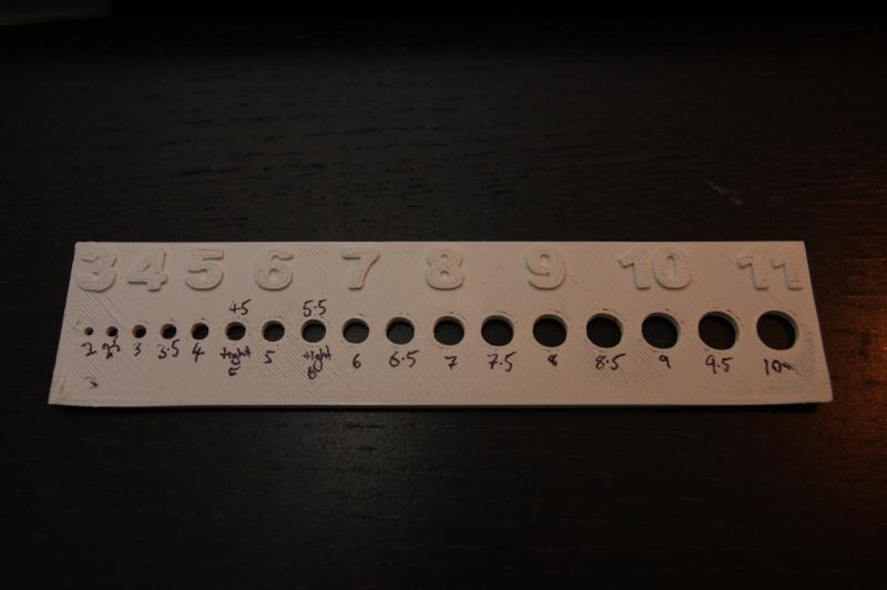 3D printed drill gauge