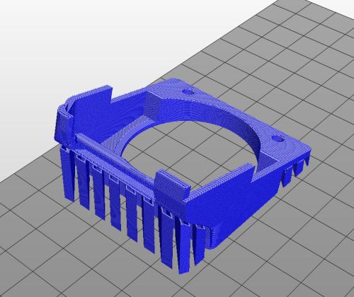 da vinci model showing supports