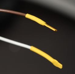 Spare cores with heatshrink crimped