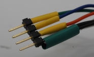 all wires with heatshrink ready