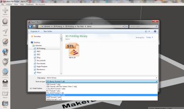 Choose the Binary file type option