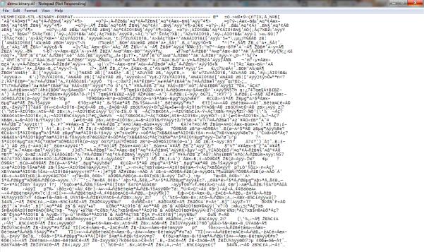 Binary stl file