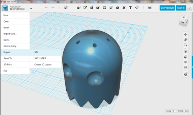 Exporting as an STL file
