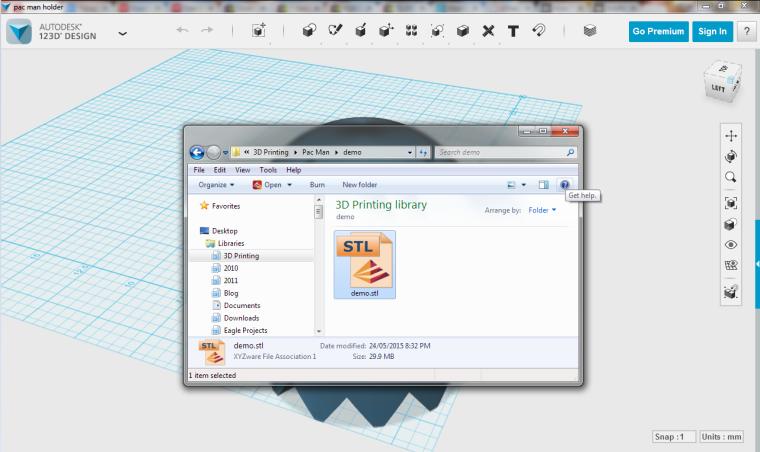 Saved STL file is 29.9MB