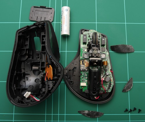Take care of the small cable attached to the top half of the mouse