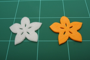 PLA and ABS print samples from Da Vinci