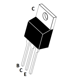 Pinout for MJE3055 transistor