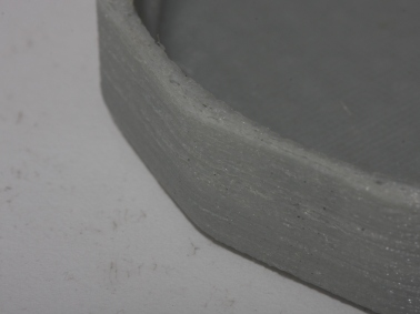 Surface finish before filament and nozzle diameter adjusted. Layer thickness is 0.2mm.