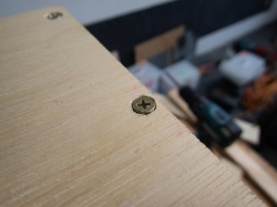 An example of how rough the finish is when I used a separate countersink bit.